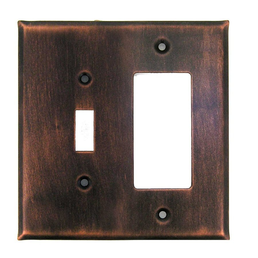 Anne at Home 2-Gang Antique Copper Double Toggle/Decorator Wall Plate