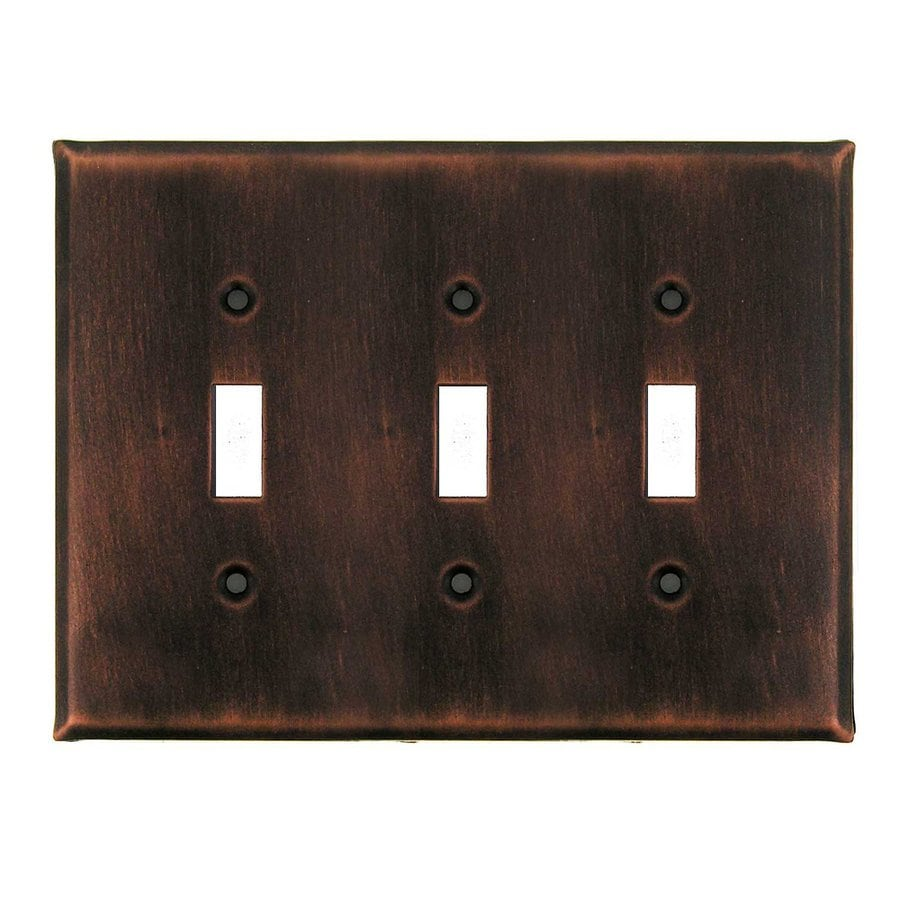 Anne at Home 3-Gang Antique Copper Triple Toggle Wall Plate