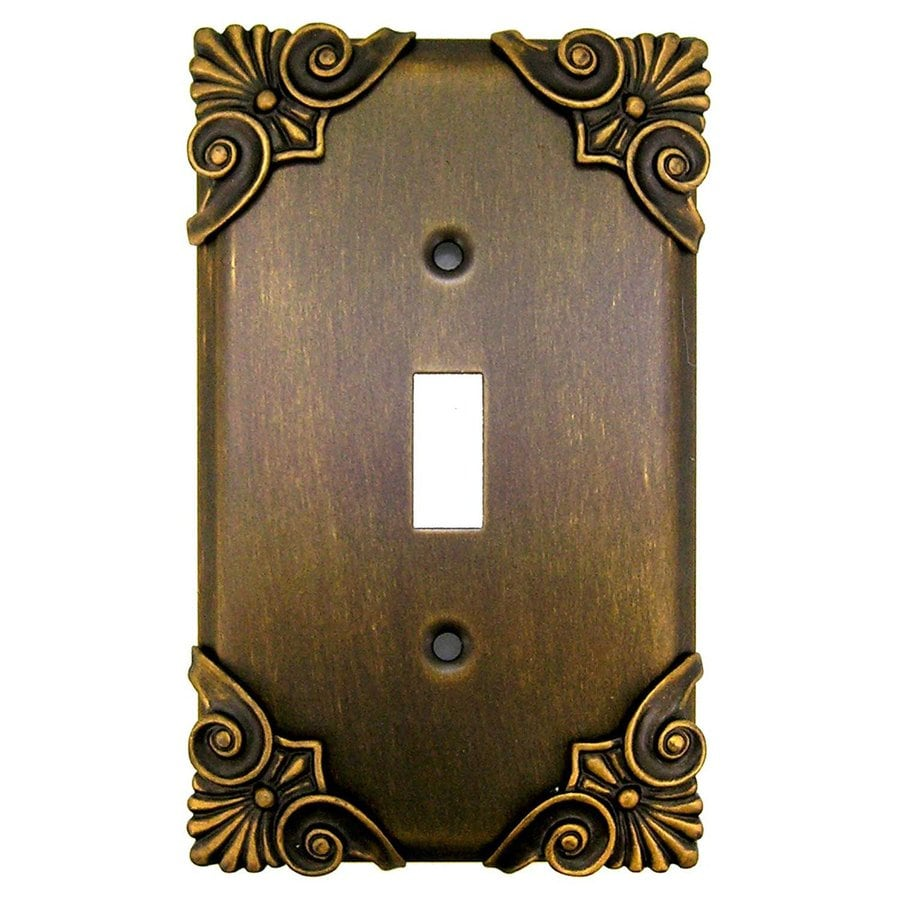 Anne at Home 1-Gang Rubbed Bronze Single Toggle Wall Plate