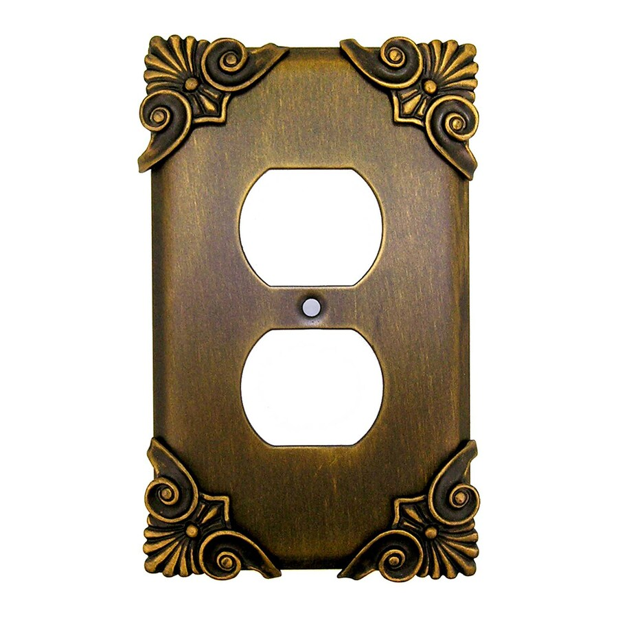 Anne at Home 1-Gang Rubbed Bronze Single Duplex Wall Plate