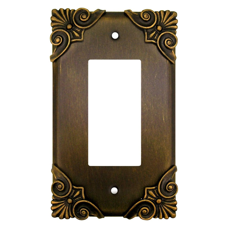 Anne at Home 1-Gang Rubbed Bronze Single Decorator Wall Plate