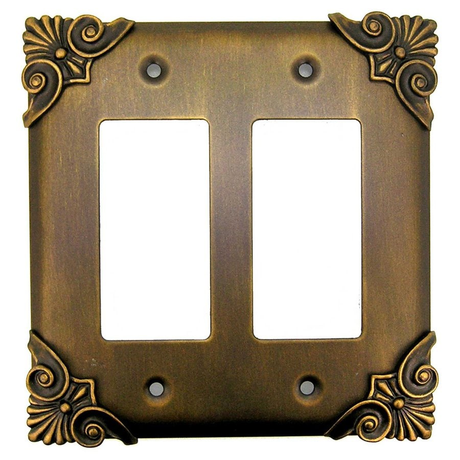 Anne at Home 2-Gang Rubbed Bronze Double Decorator Wall Plate