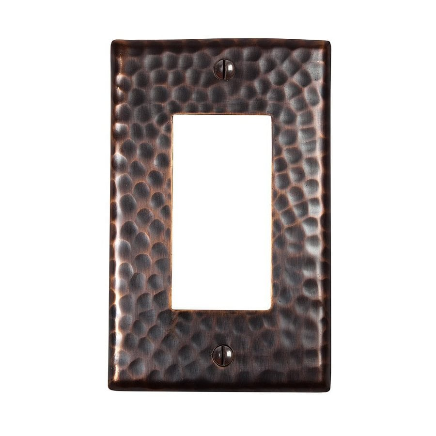 The Copper Factory Artisan 1-Gang Antique Copper Single Decorator Wall Plate