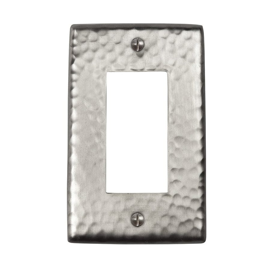 The Copper Factory Artisan 1-Gang Satin Nickel Single Decorator Wall Plate