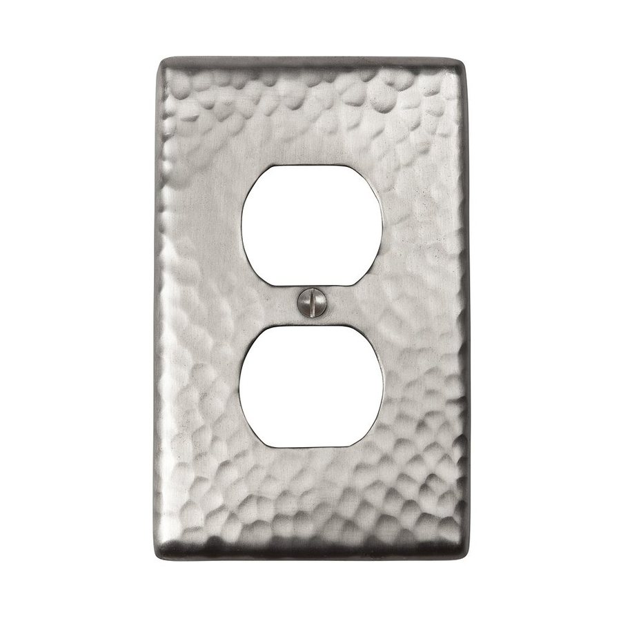 The Copper Factory Artisan 1-Gang Satin Nickel Single Duplex Wall Plate