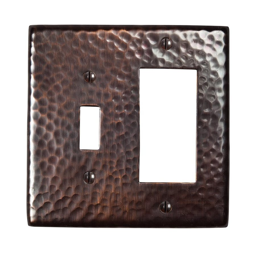 The Copper Factory Artisan 2-Gang Antique Copper Double Toggle/Decorator Wall Plate