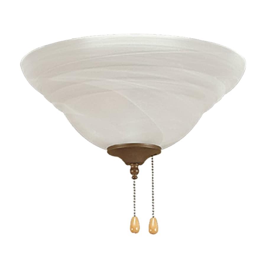 Millennium Lighting 3-Light Incandescent Ceiling Fan Light Kit with Alabaster Glass