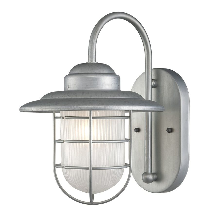Shop millennium lighting r series 11 5 in h galvanized for Outside lawn lights