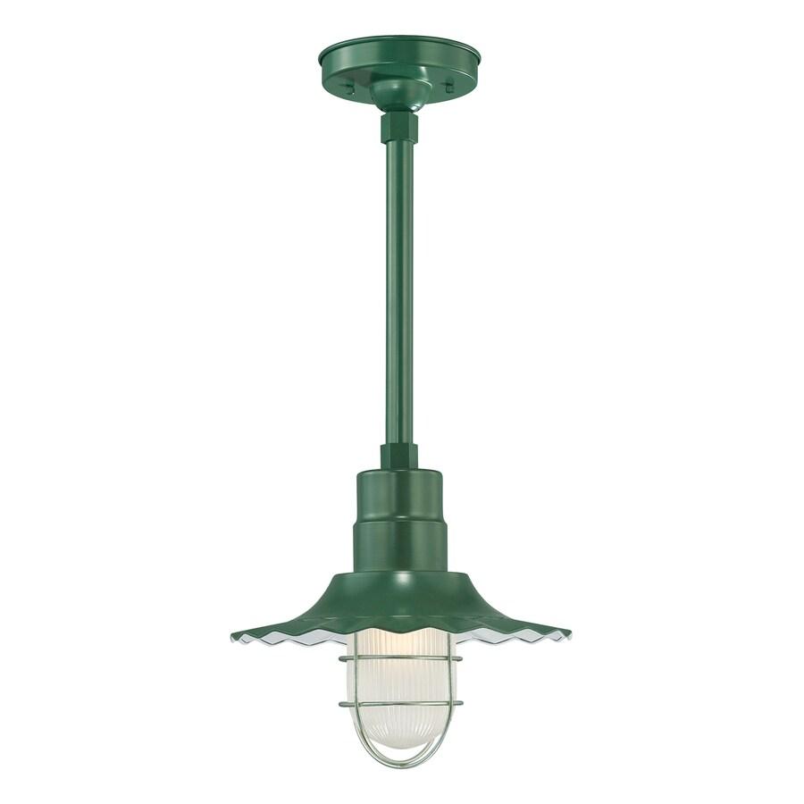 Millennium Lighting R Series 11.25-in H Green Outdoor Pendant Light