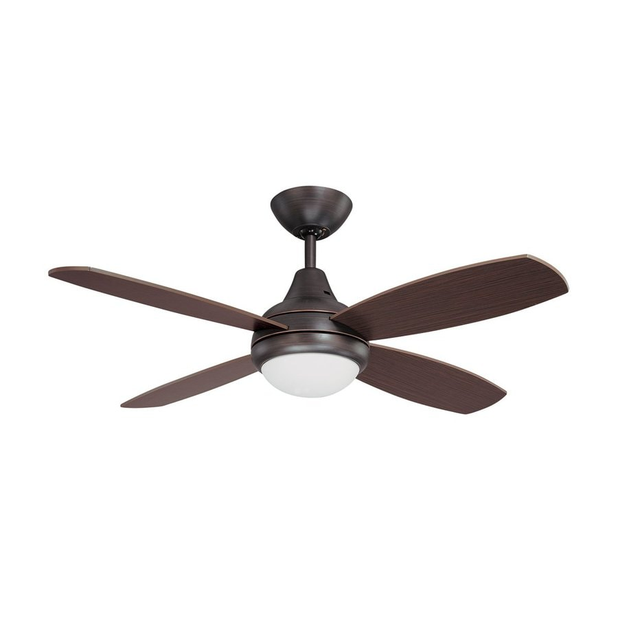 Kendal Lighting Aviator 42-in Copper Bronze Downrod Mount Indoor Ceiling Fan with Light Kit and Remote (4-Blade)