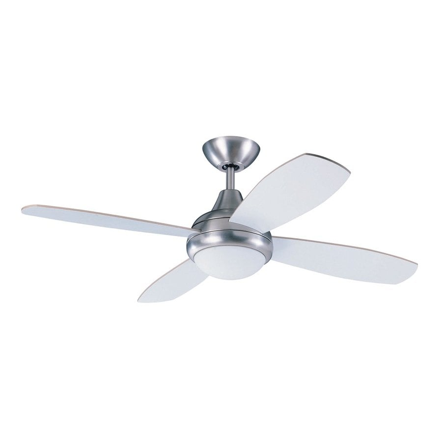 kendal lighting aviator 42in satin nickel indoor downrod mount ceiling fan with light kit