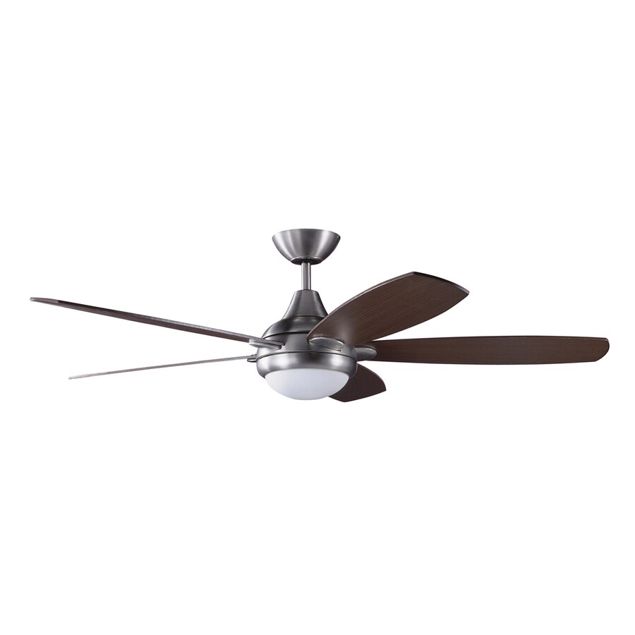 Kendal Lighting Espirit 52-in Satin nickel Indoor Downrod Mount Ceiling Fan with Light Kit and Remote