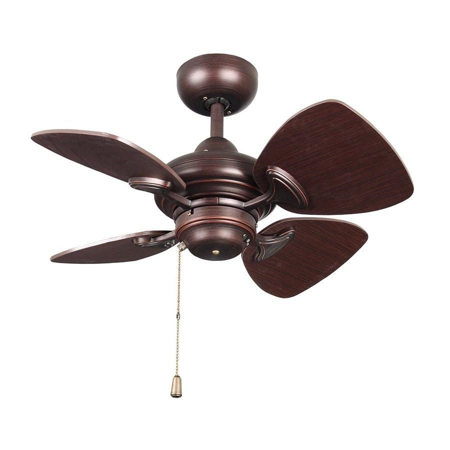 Kendal Lighting Aries 24-in Copper bronze Indoor Downrod Mount Ceiling Fan (4-Blade)