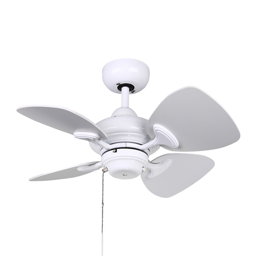 Kendal Lighting Aries 24-in White Downrod Mount Indoor Ceiling Fan (4-Blade)