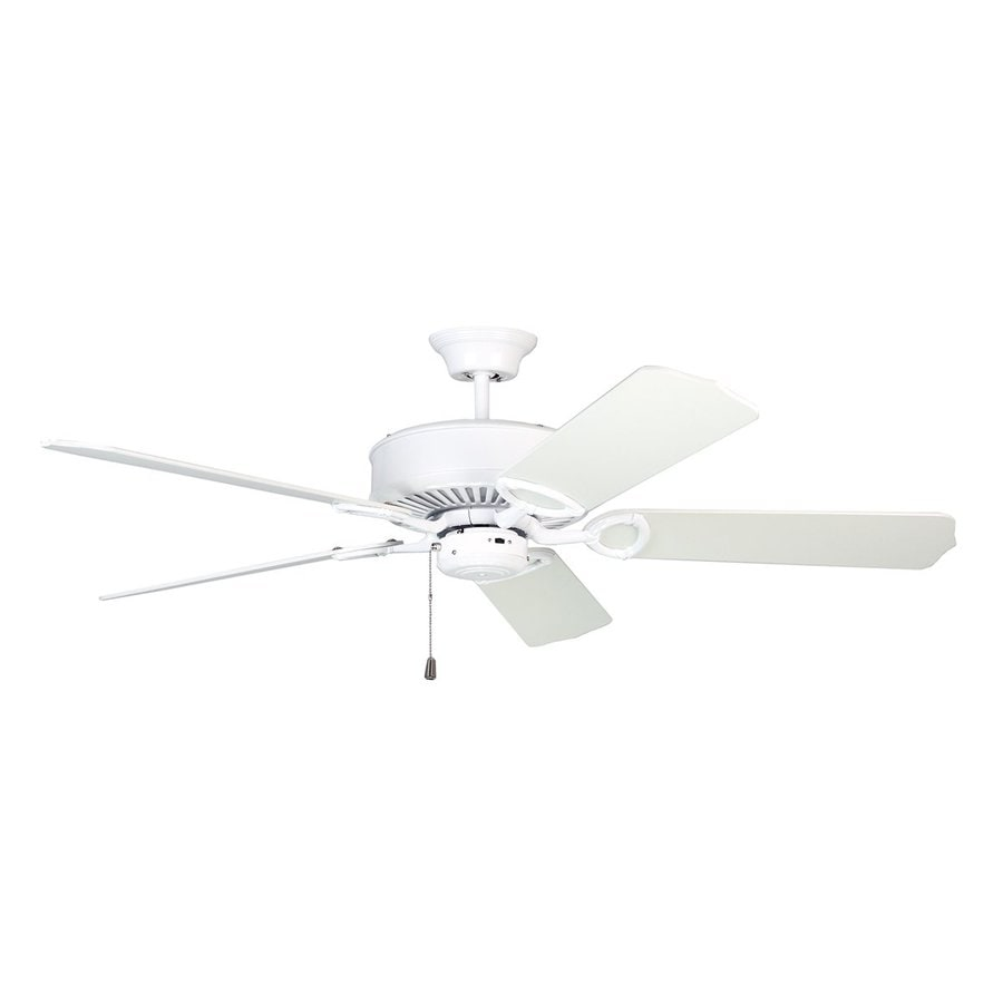 Kendal Lighting Excellence 52-in White Downrod Mount Indoor Ceiling Fan (5-Blade) ENERGY STAR