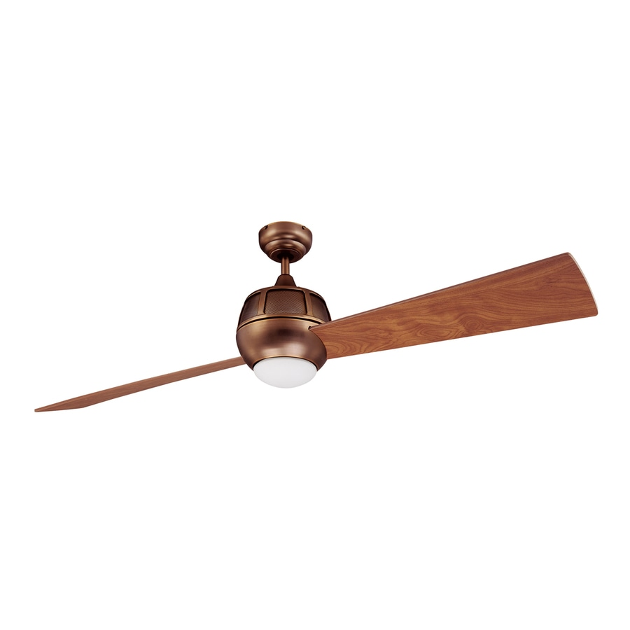Kendal Lighting Ova 60 In Architectural Bronze Downrod Mount Indoor Ceiling Fan With Light Kit