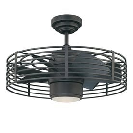 Kendal Lighting Enclave 23 In Natural Iron Indoor Ceiling Fan With Light Kit And Remote