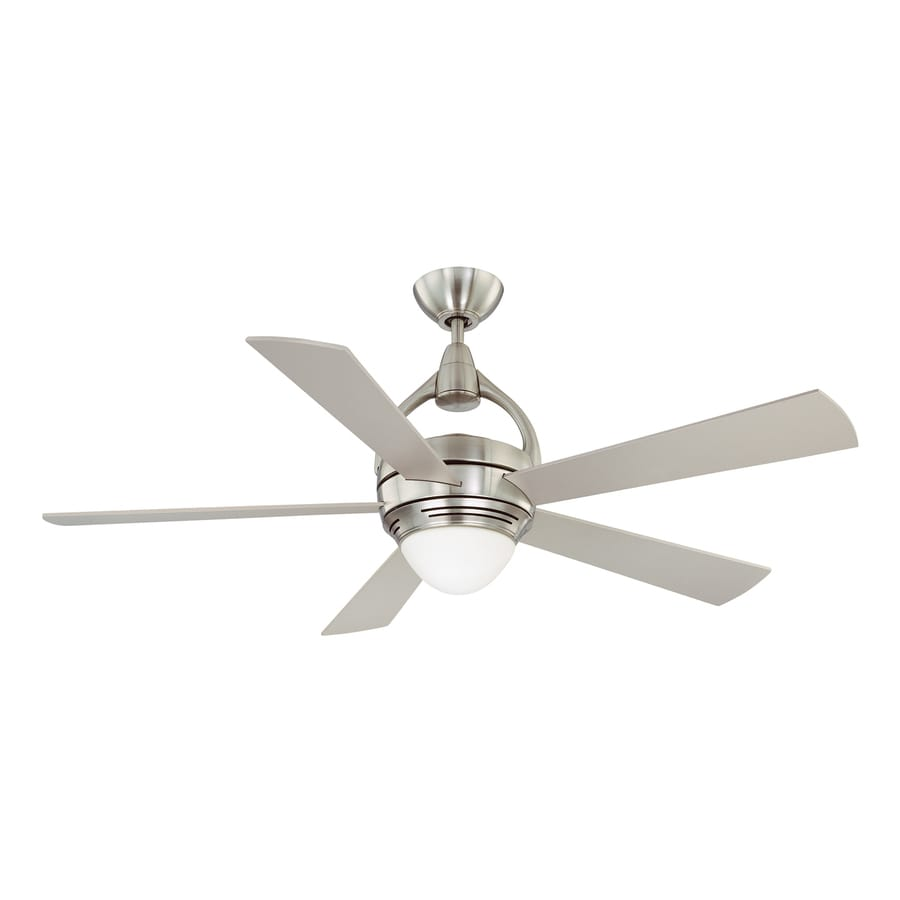 Kendal Lighting Premia 52-in Satin nickel Indoor Downrod Or Close Mount Ceiling Fan with Light Kit and Remote
