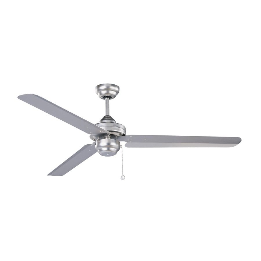Kendal Lighting Studio 54 54-in Brushed Steel Downrod Mount Indoor Ceiling Fan (3-Blade) ENERGY STAR