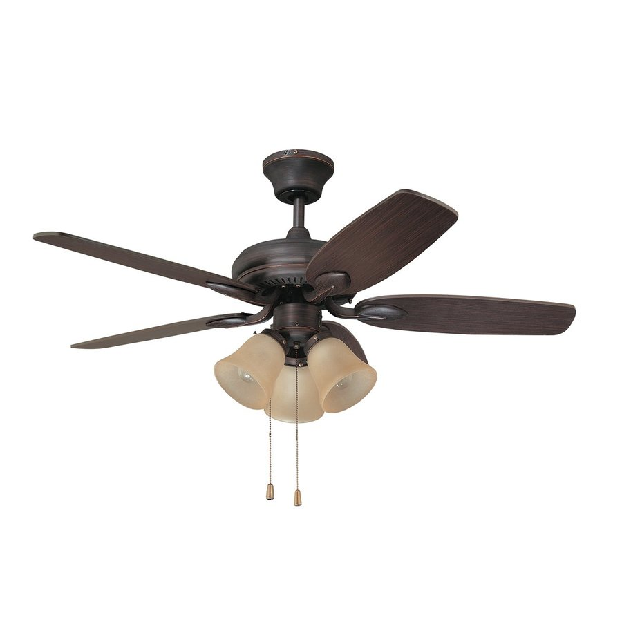 Kendal Lighting Cordova 42-in Copper Bronze Downrod Mount Indoor Ceiling Fan with Light Kit (5-Blade)