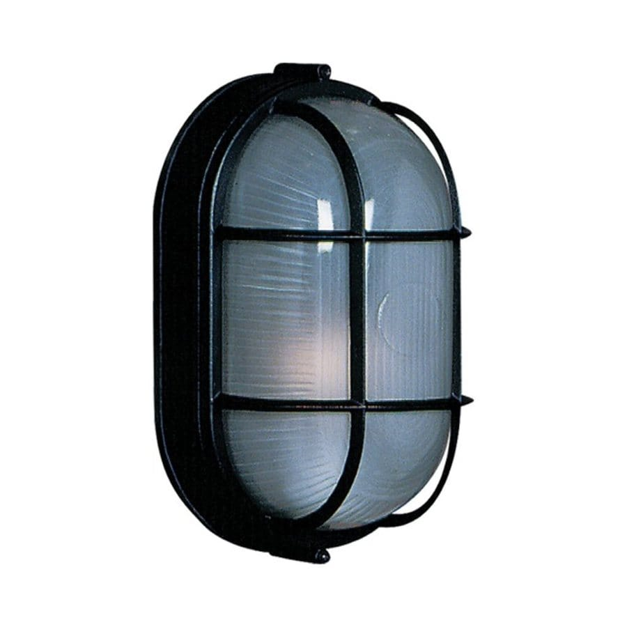 Artcraft Lighting Marine 8.25-in H Black Outdoor Wall Light