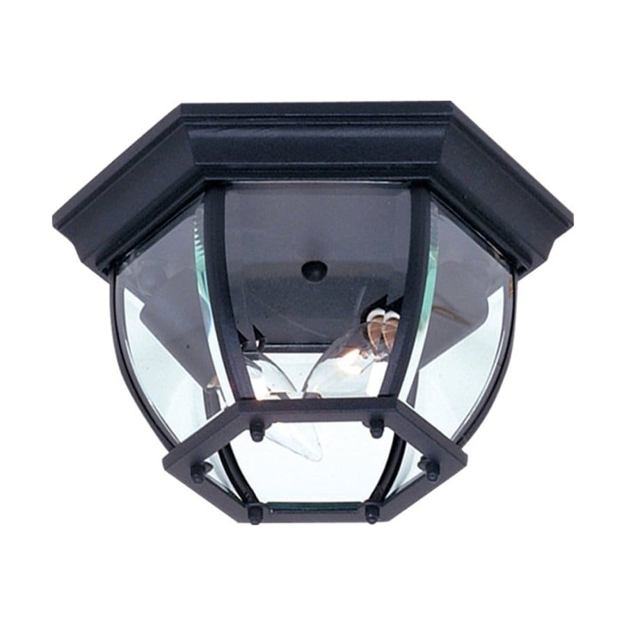 Artcraft Lighting Classico 10.75-in W Black Outdoor Flush-Mount Light