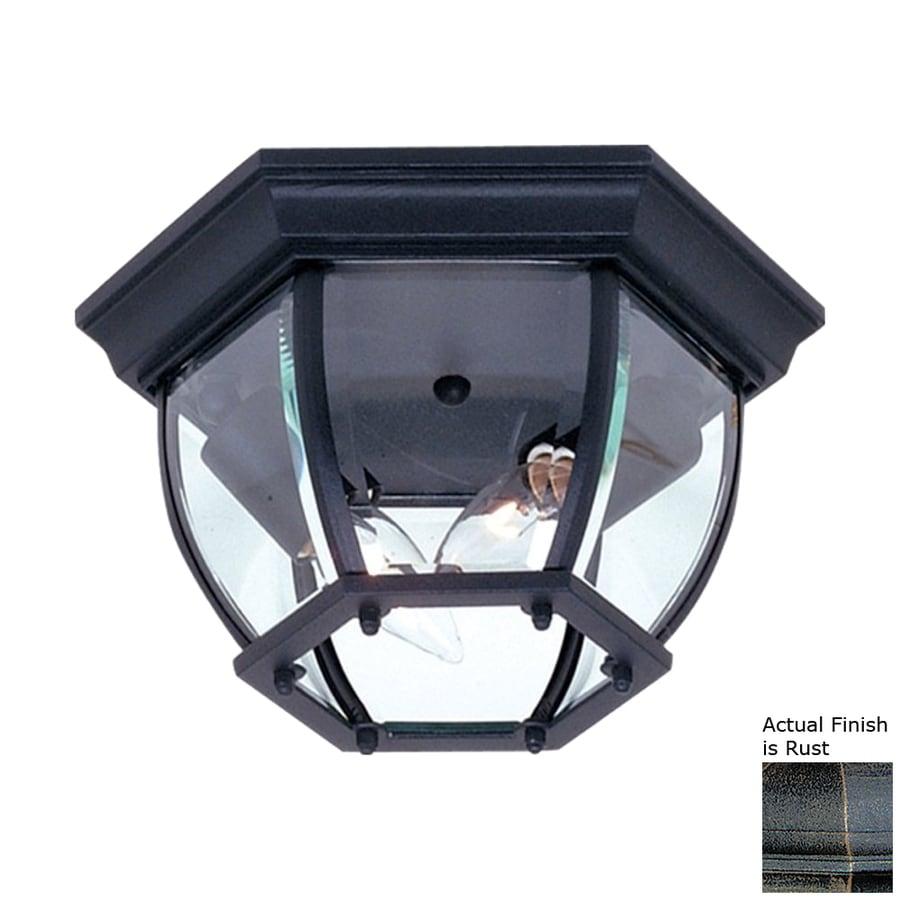 Artcraft Lighting Classico 10.75-in W Rust Outdoor Flush-Mount Light