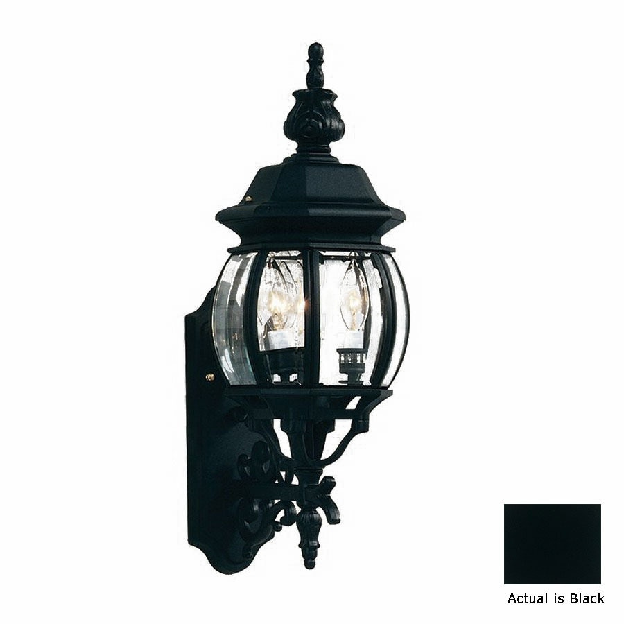 Artcraft Lighting Classico 22.5-in H Black Candelabra Base (E-12) Outdoor Wall Light