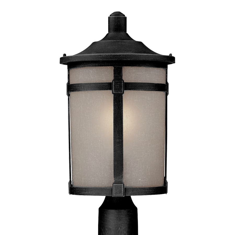 Artcraft Lighting St. Moritz 18.625-in H Rich Black Post Light