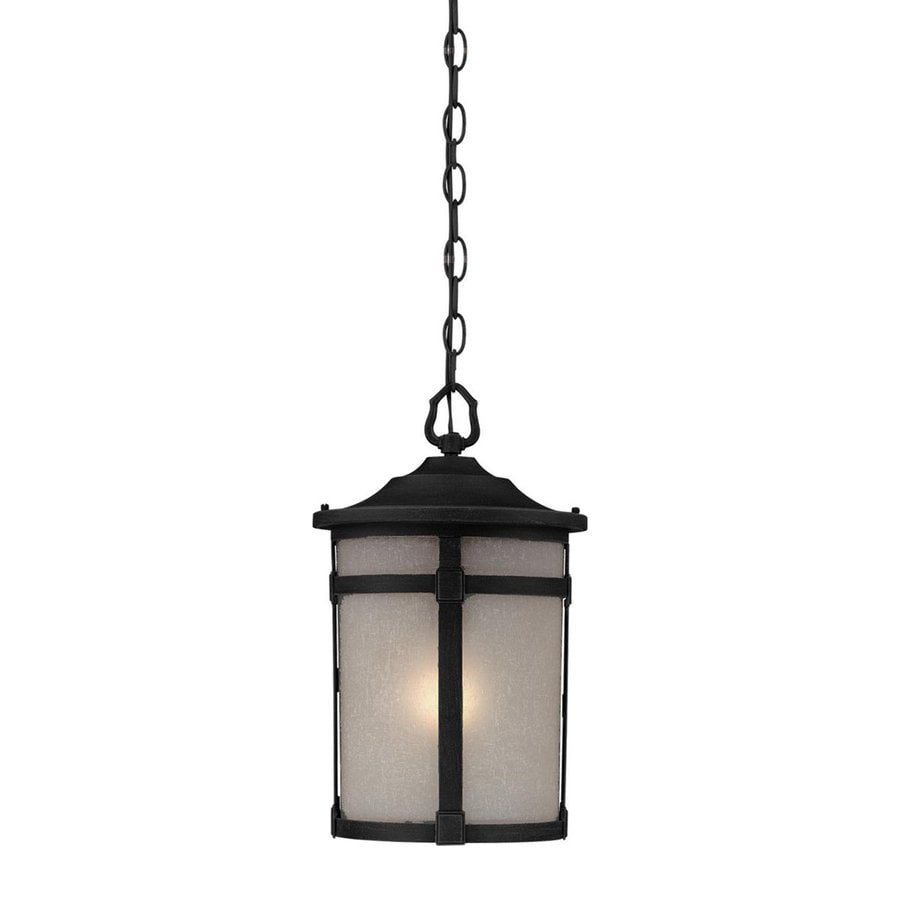 Artcraft Lighting St. Moritz 15.75-in Rich Black Hardwired Outdoor Pendant Light