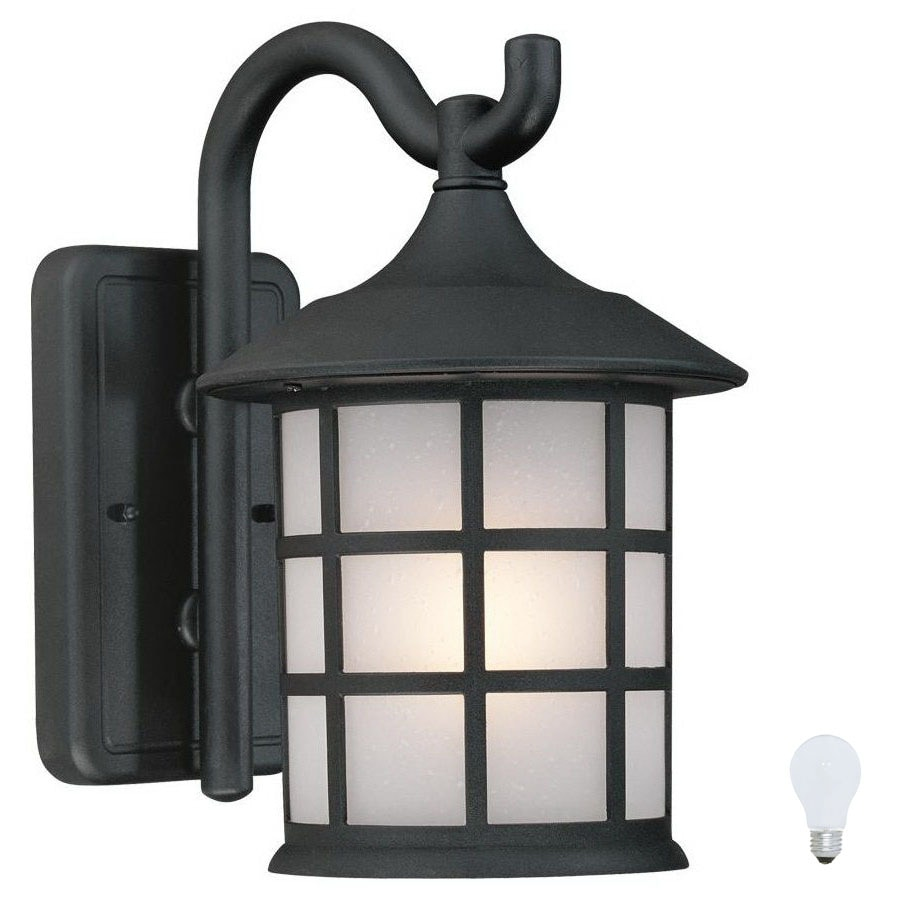 Shop Artcraft Lighting Yorktown 9 5 In H Black Outdoor