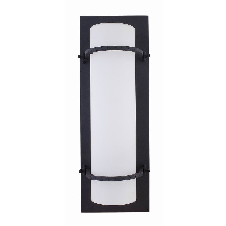 Whitfield Lighting Daniel 18.5-in H Black Outdoor Wall Light