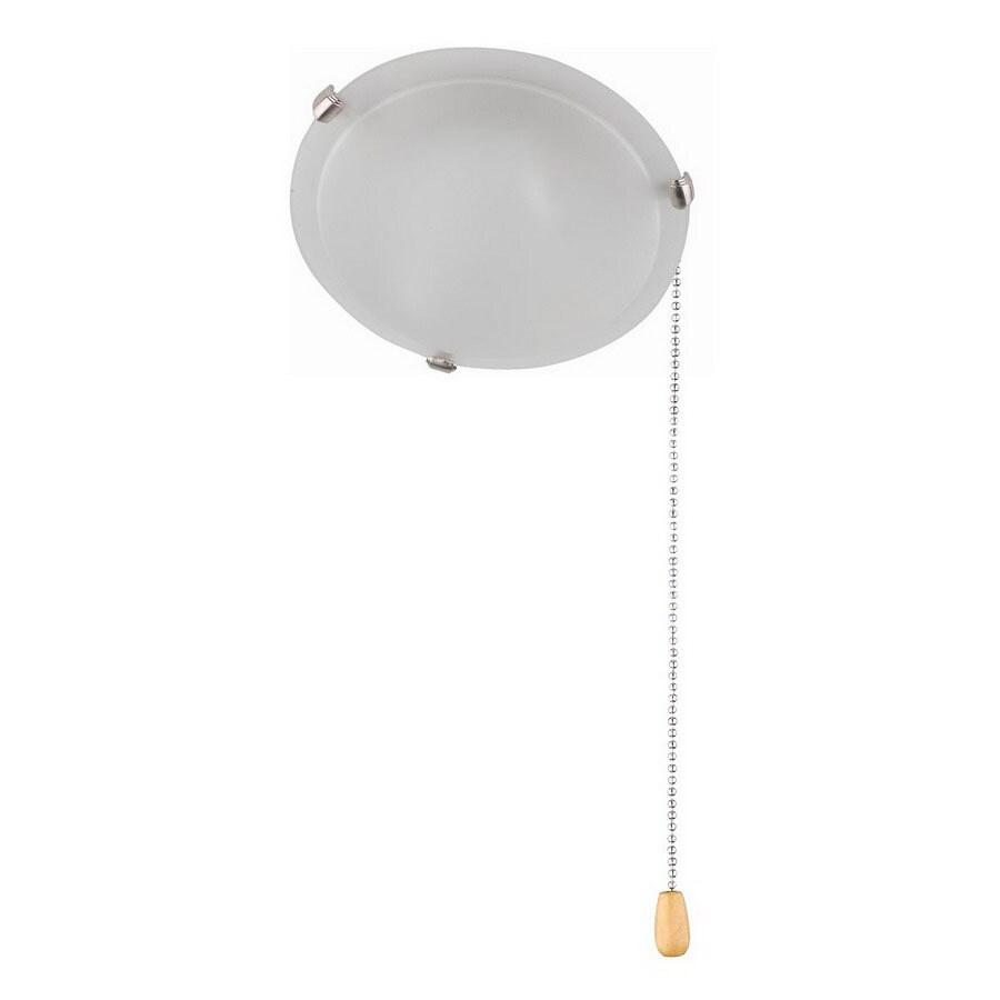 Whitfield Lighting 2-Light Satin Steel Ceiling Fan Light Kit with Acid Wash Glass