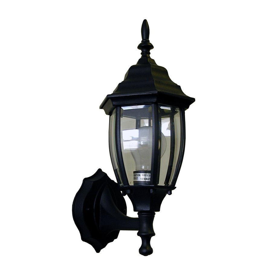 Whitfield Lighting 15-in H Black Outdoor Wall Light