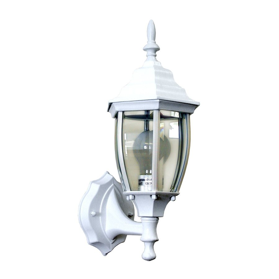 Shop Whitfield Lighting 15-in H White Outdoor Wall Light at Lowes.com