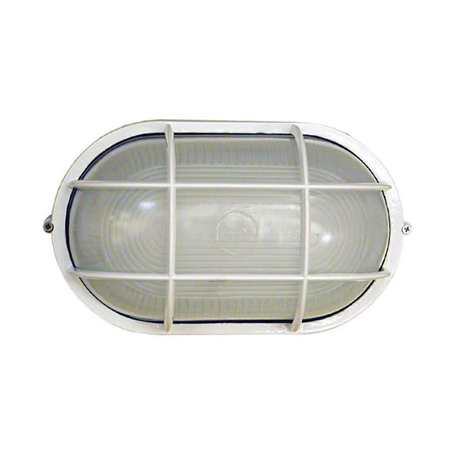Whitfield Lighting 8.5-in W White Outdoor Flush-Mount Light