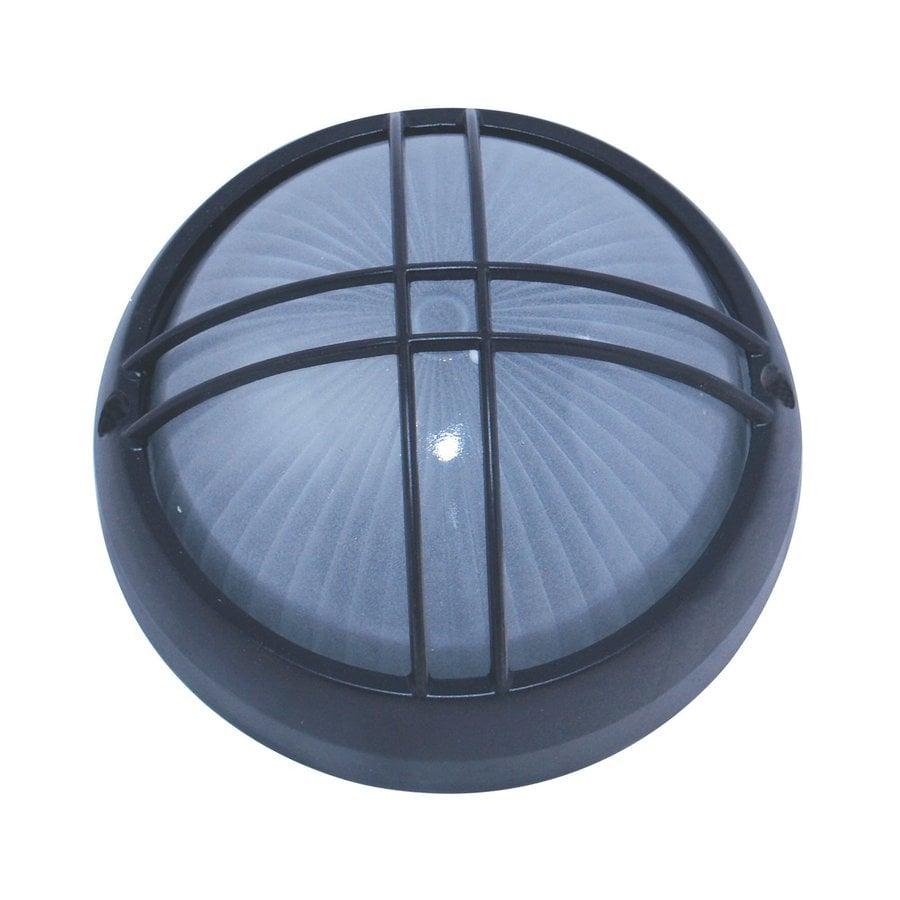 Whitfield Lighting 10-in W Black Outdoor Flush-Mount Light