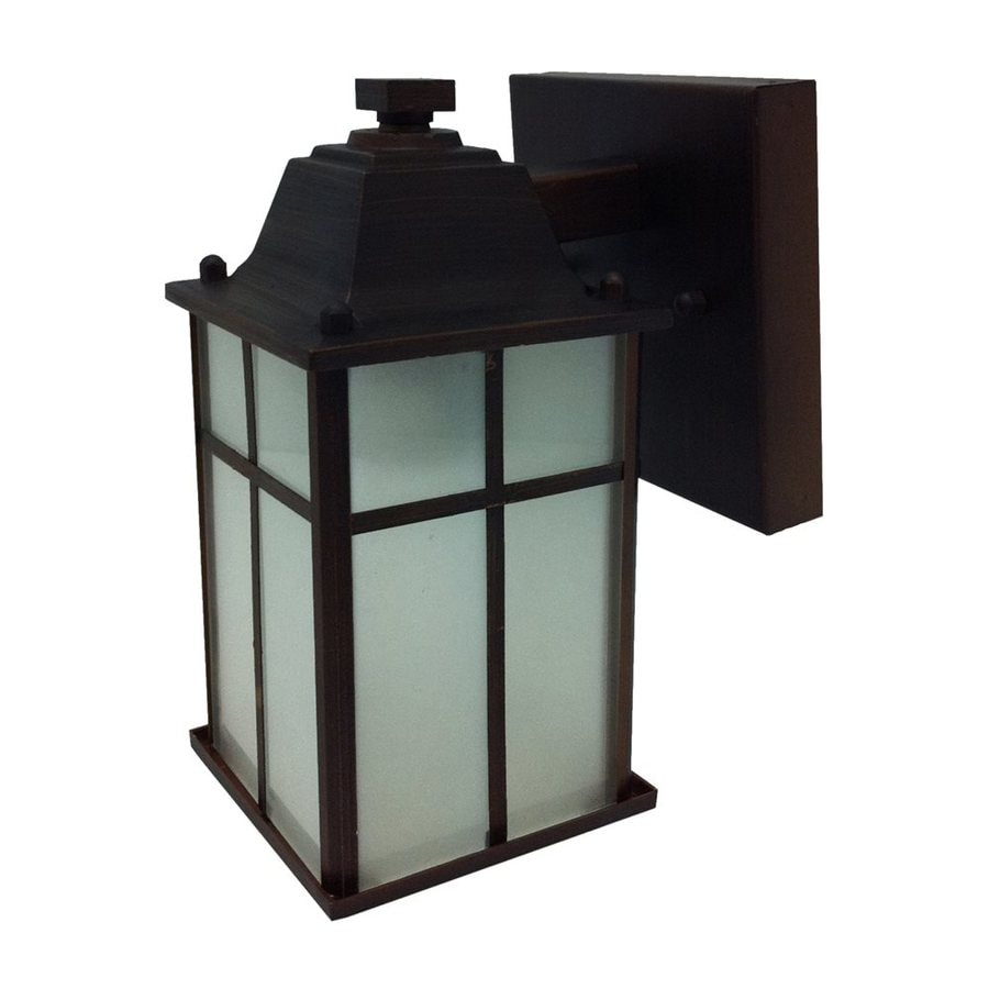 Whitfield Lighting 8.25-in H Black Outdoor Wall Light