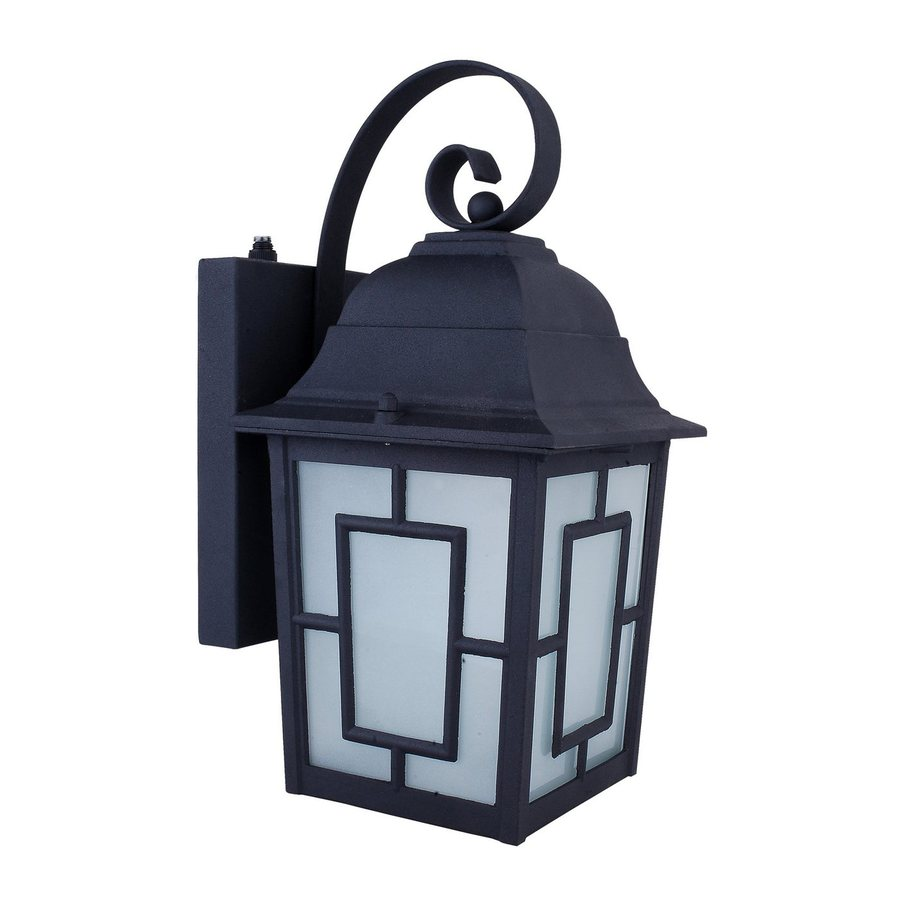Whitfield Lighting 12-in H Black Outdoor Wall Light