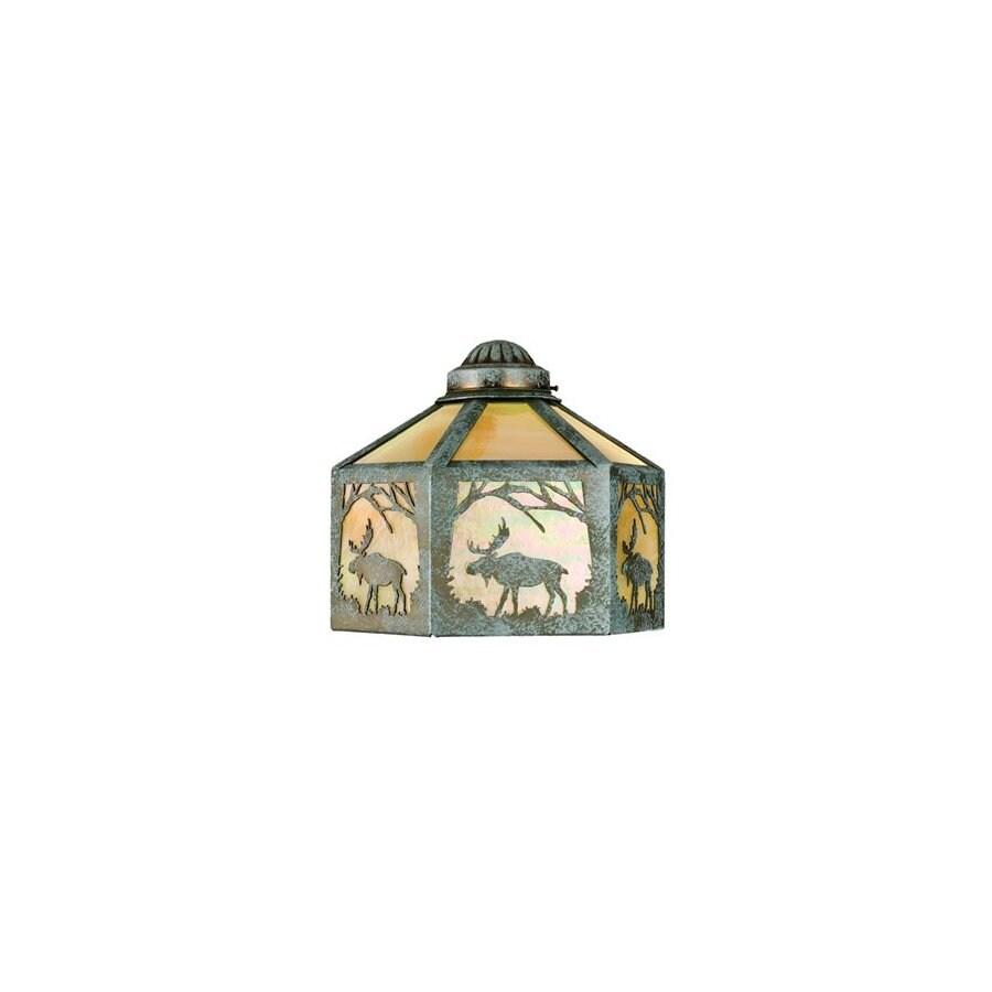 Meyda Tiffany 1-Light Verdi Ceiling Fan Light Kit with Beige Glass