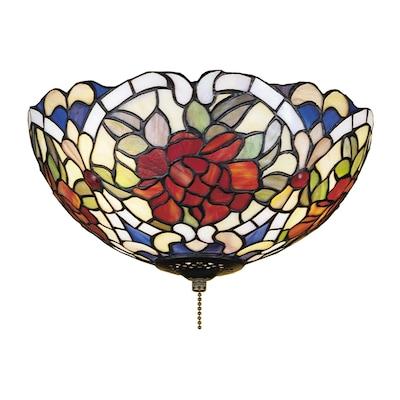Meyda Tiffany Renaissance Rose 3 Light Mahogany Bronze Incandescent Ceiling Fan Light