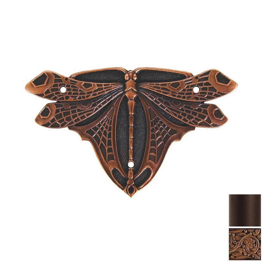 Notting Hill 2-Pack Antique Copper Dragonfly Cabinet Backplate