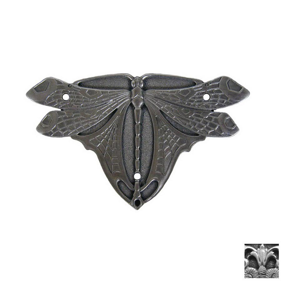 Notting Hill 2-Pack Antique Pewter Dragonfly Cabinet Backplate