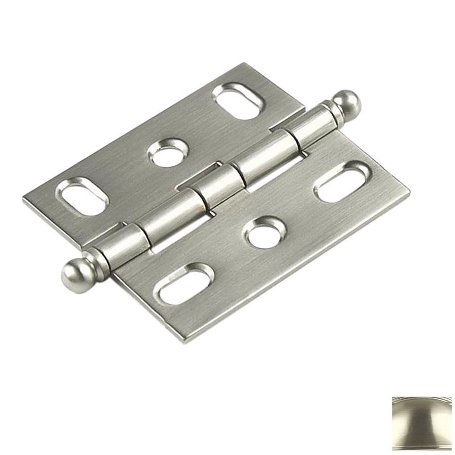 Century Hardware 2-5/8-in x 1-3/4-in Matte Satin Nickel Cabinet Hinge