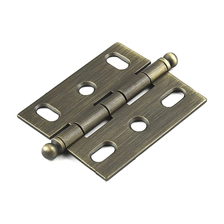 Century Hardware 2-5/8-in x 1-3/4-in Weathered Brass Cabinet Hinge