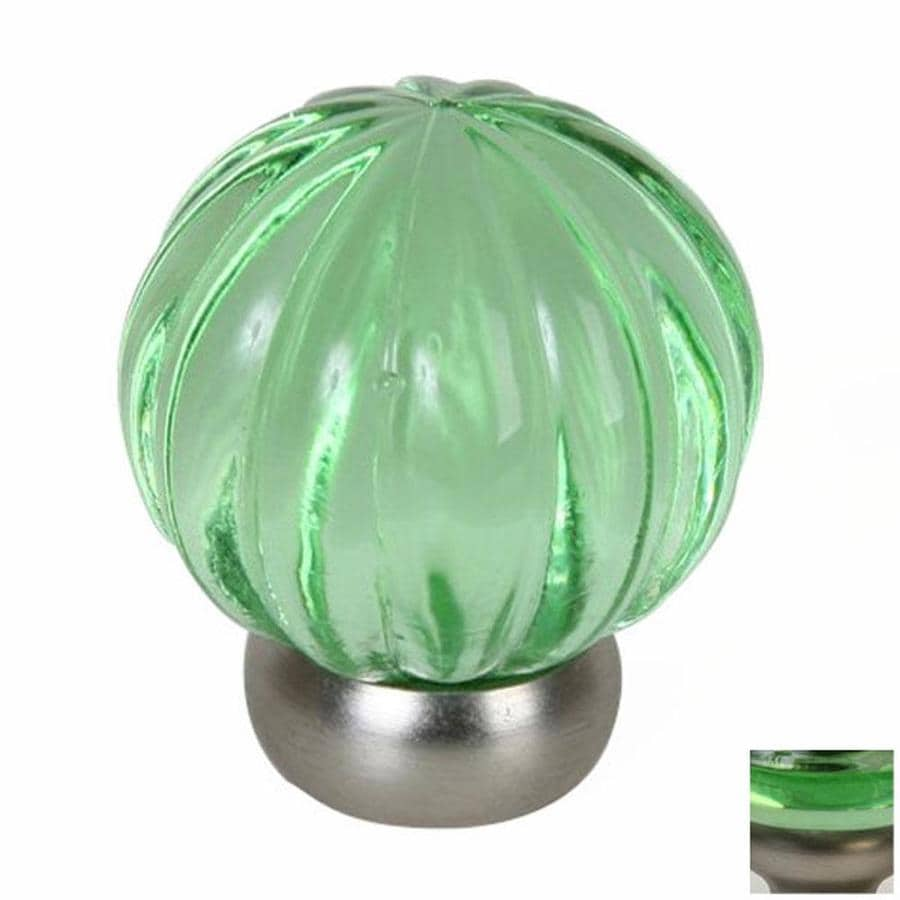 Shop Lew S Hardware Melon Glass Transparent Green Brushed
