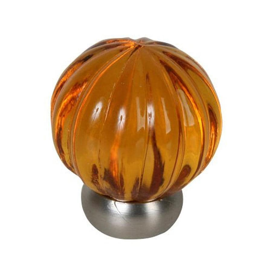 Lew's Hardware 1-1/4-in Brushed Nickel Melon Glass Globe Cabinet Knob
