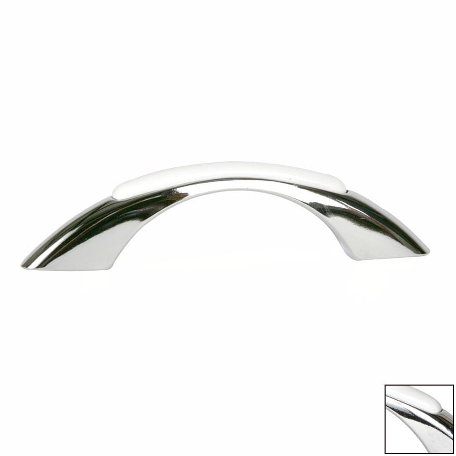 Lew's Hardware 3-in Center-to-Center Polished Chrome Retro Arched Cabinet Pull