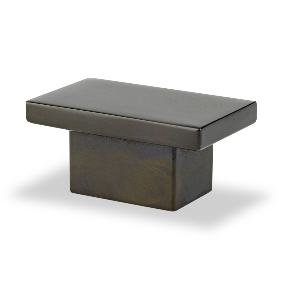 Topex Hardware Contemporary Brushed Oil-Rubbed Bronze Rectangular Cabinet Knob