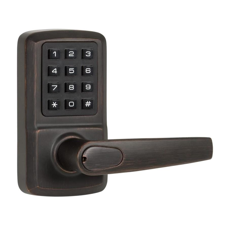 Oil rubbed bronze door levers - The Delaney Company Privex Oil Rubbed Bronze Right Handed Electronic Entry Door Lever